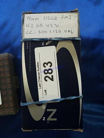 3X-50-ct Boxes of 9mm Reloadsv 115gr FMJ