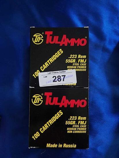 2X-100ct TulAmmo .223 55gr FMJ