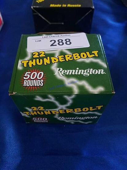 500ct Remington .22lr Thunderbolt