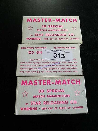 135 Rounds of .38spec Master Match Reloads