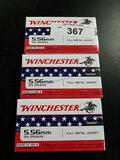 3X-20ct WInchester 5.56mm 55gr FMJ