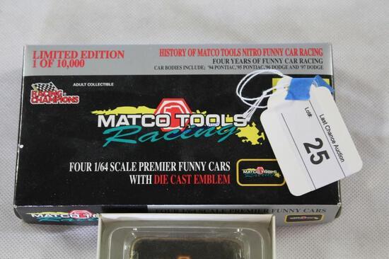 4-1/64 Scale Matco Funny Car Set 94-97
