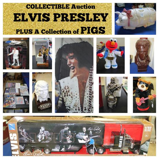 Elvis Presley Collection & Pig Collectibles