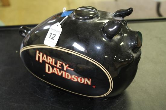 Harley Davidson Pig Piggy Bank