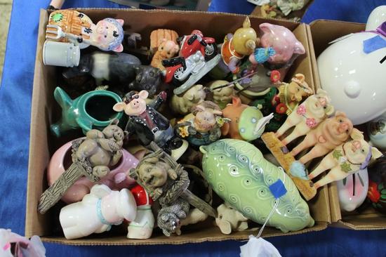 Large Lot of Pig Decor Pieces