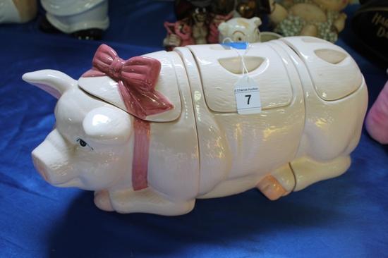 Ceramic Pig Canisters