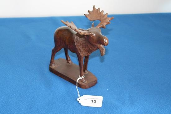 """Large Ironwood Moose 9"""" Tall"""