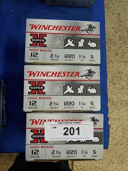 3X-25ct Winchester 12ga 2 3/4 5 shot