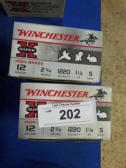 2X-25ct Winchester 12ga 2 3/4 5 shot