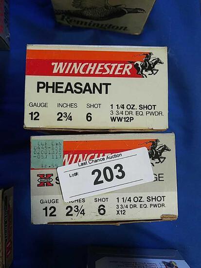 2X-Winchester 25ct Phesant 12ga 2 3/4 6 shot