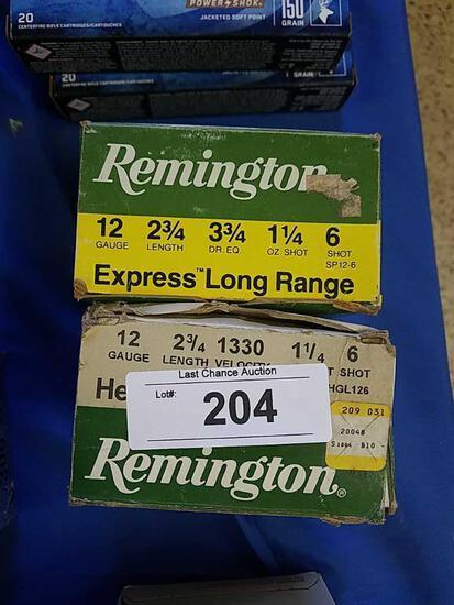 2X-25ct Remington 12ga 2 3/4 6 shot