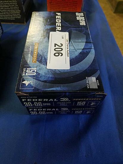 2X-20ct Federal 30-06sprg 150gr JSP