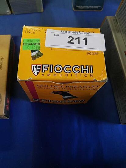 19ct part. Fiocchi Golden Phesant 20ga 3in 5s