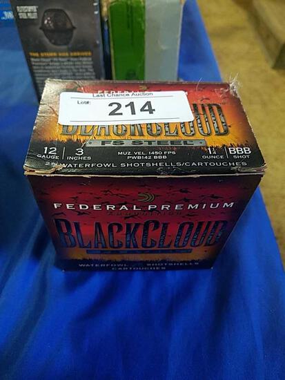 25ct Federal Black Cloud 3in BBB 12ga Steel