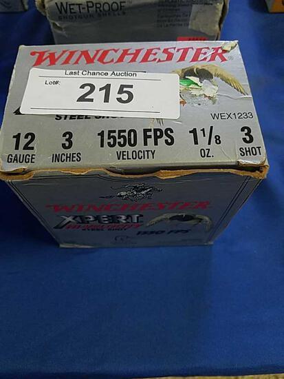 25ct Winchester 3in 3shot 12ga Steel