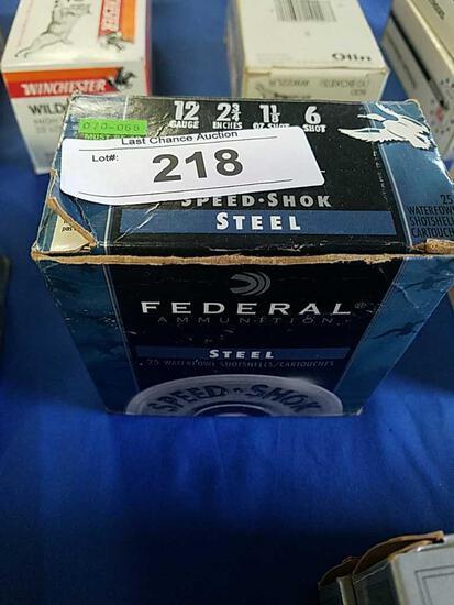 25ct Federal 2 3/4 6shot 12ga Steel