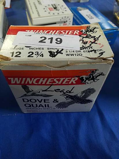 25ct Winchester 2 3/4 4shot 12ga