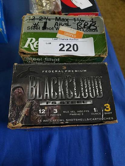 20 3in 12ga Black Cloud and 25 2 3/4 BBB & 1