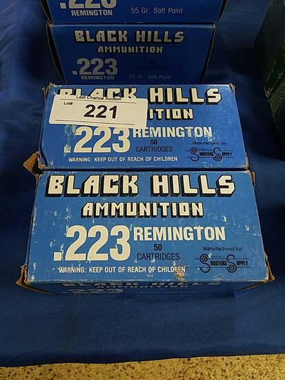 2X-50ct Black Hills Ammo .223 55gr SP