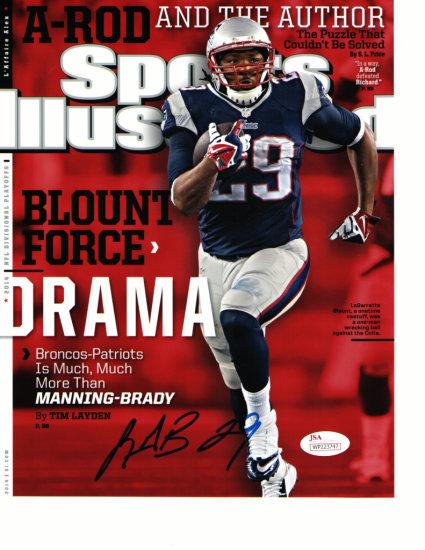 Legarrette Blount New England Patriots Autographed 8x10 Photo Pic w/JSA coa