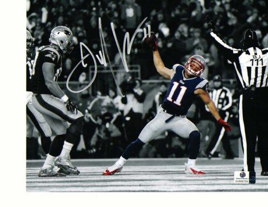Julian Edelman New England Patriots Autographed 8x10 Photo Spike Pic w/GA coa   Minitron