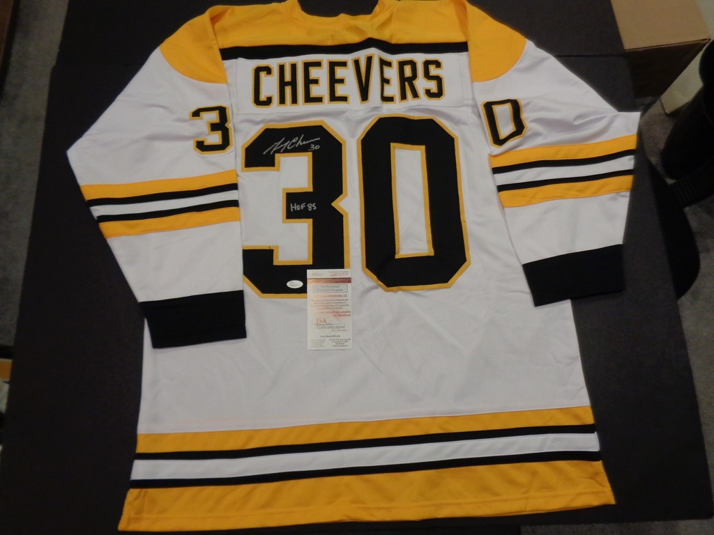 differently 37a06 57e14 Lot: Gerry Cheevers Autographed Custom Boston Bruins Style ...