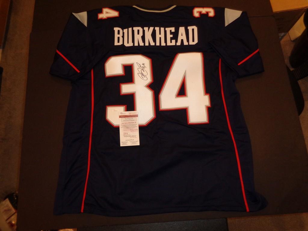 pre order 3960d ea697 Lot: Rex Burkhead Autographed Custom New England Patriots ...