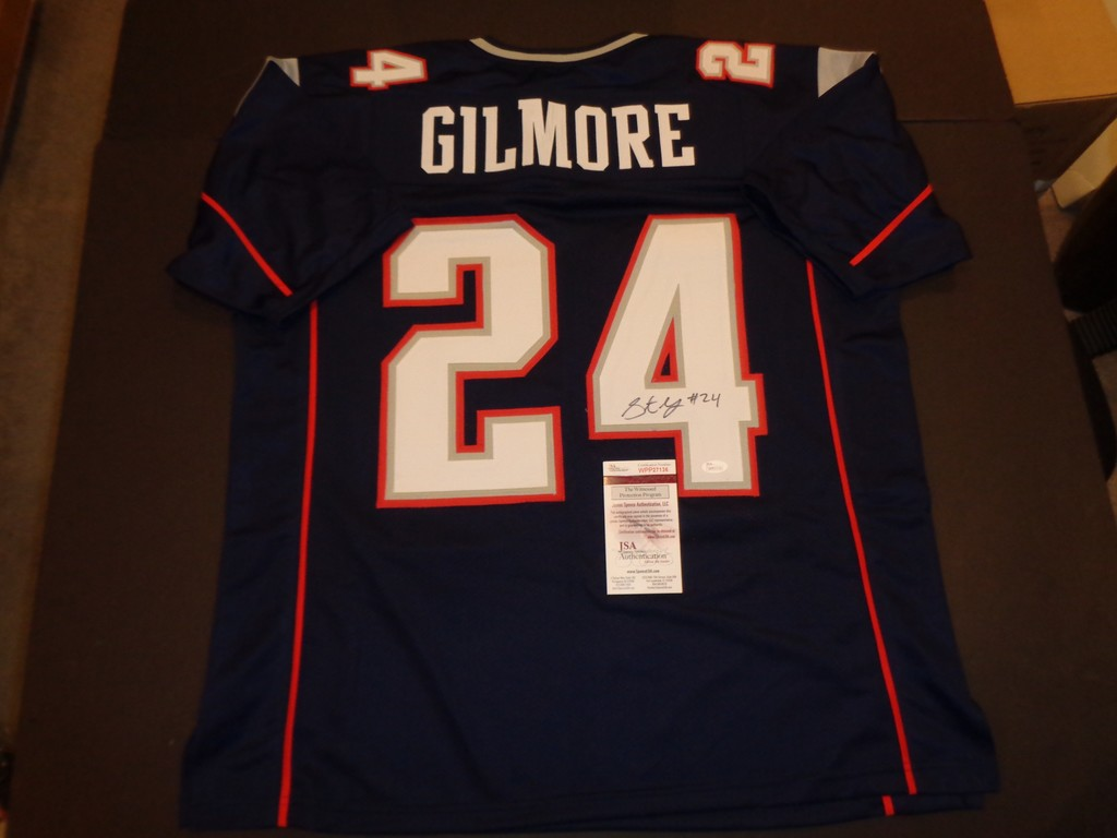 reputable site 8eb5a c6e3b Lot: Stephon Gilmore Autographed Custom New England Patriots ...
