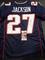 J.C. Jackson New England Patriots Autographed Custom Home Blue Style Jersey w/JSA W coa