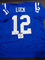 Andrew Luck Indianapolis Colts Autographed Custom Home Blue Style Jersey w/GA coa