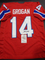 Steve Grogan New England Patriots Autographed Custom Throwback Home Red Style Jersey w/JSA W coa