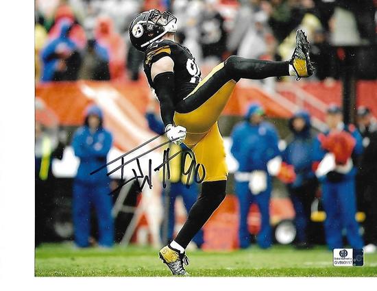 T.J. Watt Pittsburgh Steelers Autographed 8x10 Celebrating Photo w/GA coa