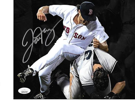 Joe Kelly Boston Red Sox Autographed 8x10 Fight Photo w/JSA W coa