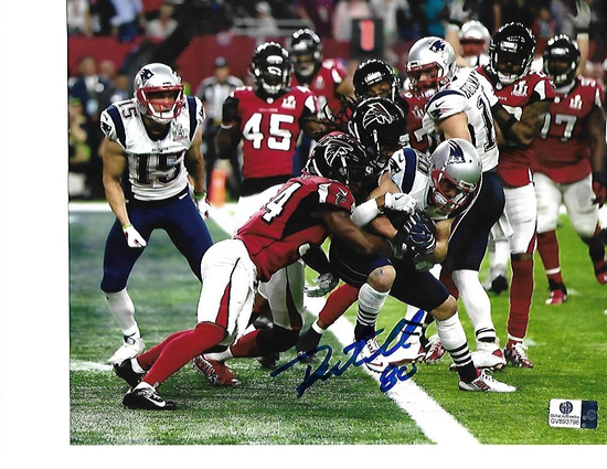 Danny Amendola New England Patriots Autographed 8x10 SB LI 4th Q TD Photo w/GA coa