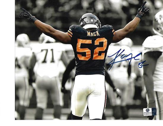 Khalil Mack Chicago Bears Autographed 8x10 Spotlite Photo w/GA coa