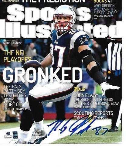 Rob Gronkowski New England Patriots Autographed 8x10 SI Photo w/GA coa