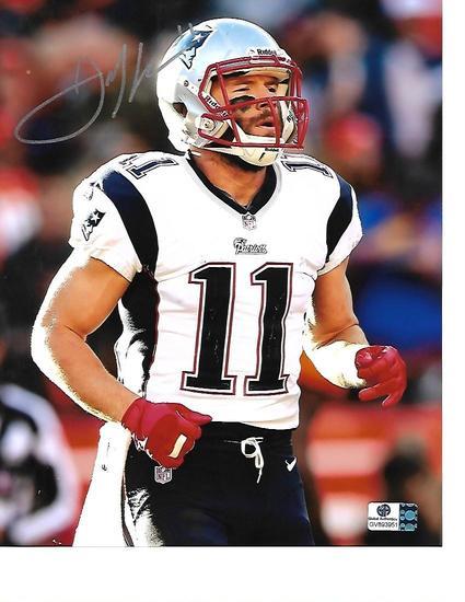 Julian Edelman New England Patriots Autographed 8x10 Running Photo w/GA coa