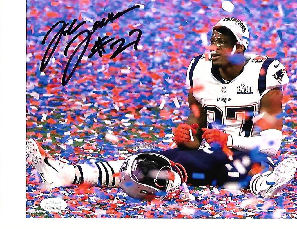 J.C. Jackson New England Patriots Autographed 8x10 SB LIII Celebration Photo w/JSA Witnessed coa