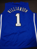 Zion Williamson Duke Blue Devils Autographed Custom Road Blue Style Jersey w/GA coa  NCAA