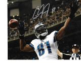 Calvin Johnson Detroit Lions Autographed 8x10 Celebration Photo w/GA coa  MEGATRON
