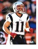 Julian Edelman New England Patriots Autographed 8x10 Running Photo w/GA coa