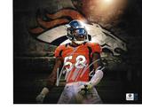 Von Miller Denver Broncos Autographed 8x10 Broncos Logo Photo w/ GA coa
