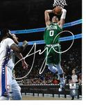 Jayson Tatum Boston Celtics Autographed 8x10 Dunk Photo w/GA coa