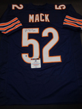Khalil Mack Chicago Bears Autographed Custom Home Blue Style Jersey w/GA coa