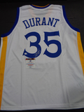 Kevin Durant Golden State Warriors Autographed Custom Home White Style Jersey w/GA coa