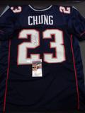 Patrick Chung New England Patriots Autographed Custom Home Blue Style Jersey w/JSA W coa