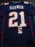 Duron Harmon New England Patriots Autographed Custom Home Blue Style Jersey w/JSA W coa