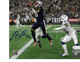 Josh Gordon New England Patriots Autographed 8x10 TB 500th TD Photo w/JSA W coa
