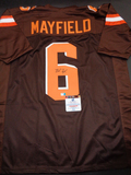 Baker Mayfield Cleveland Browns Autographed Custom Brown Jersey w/GA coa