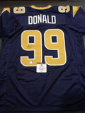 Aaron Donald Los Angeles Rams Autographed Custom Home Blue Style Jersey w/GA coa